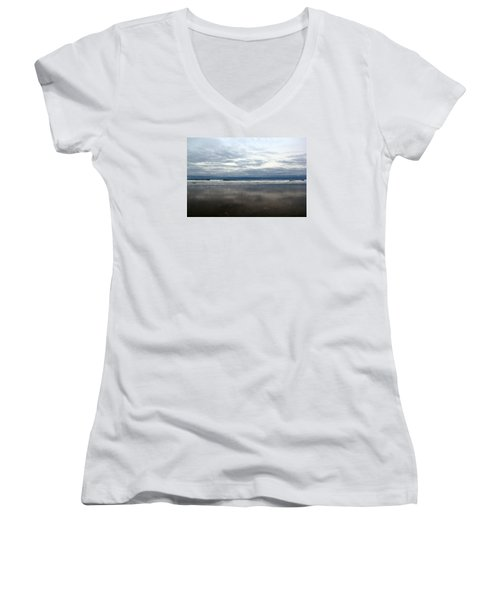 Cloudy Reflections Women's V-Neck T-Shirt