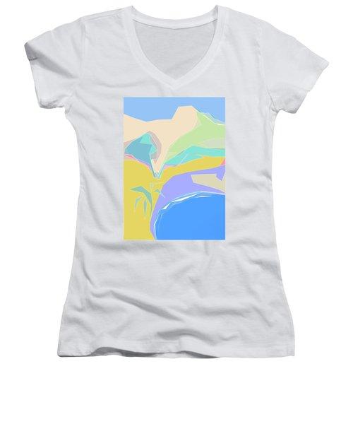 Coast Of Azure Women's V-Neck