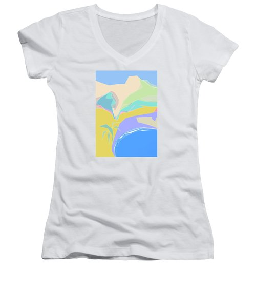 Coast Of Azure Women's V-Neck