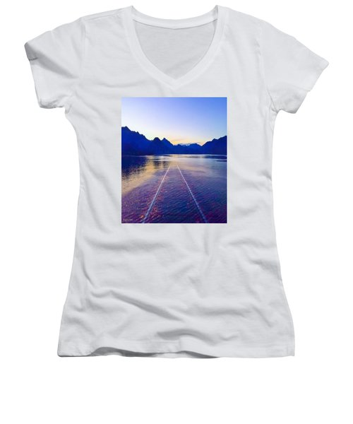 Coastal Rail Road Women's V-Neck (Athletic Fit)
