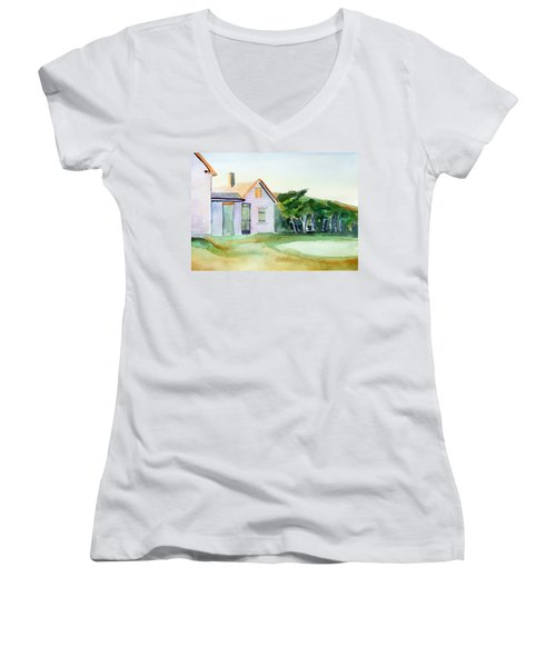 Cobb's House After Edward Hopper Women's V-Neck T-Shirt