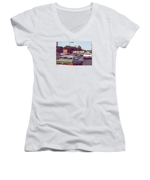 Coca Cola Plant On Central Ave Women's V-Neck T-Shirt