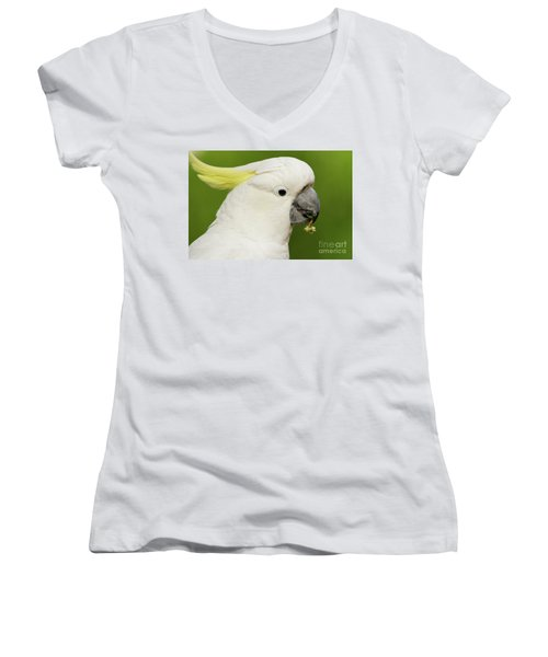 Cockatoo Close Up Women's V-Neck (Athletic Fit)