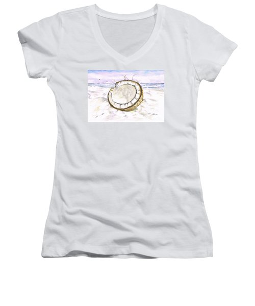 Coconut Island Women's V-Neck T-Shirt