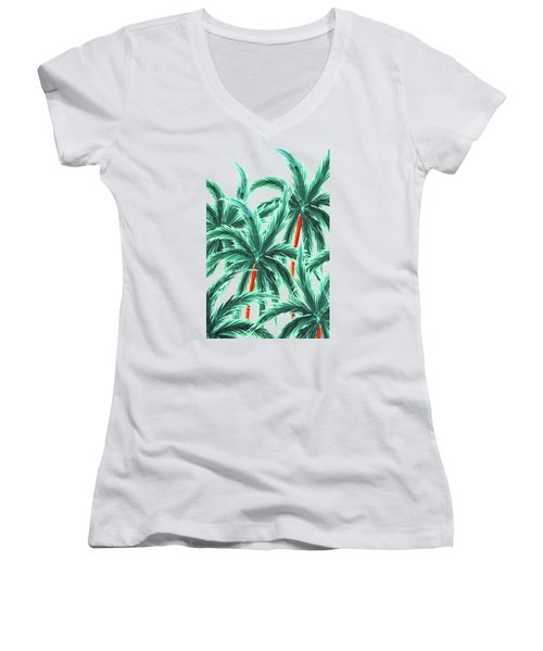 Coconut Trees Women's V-Neck T-Shirt