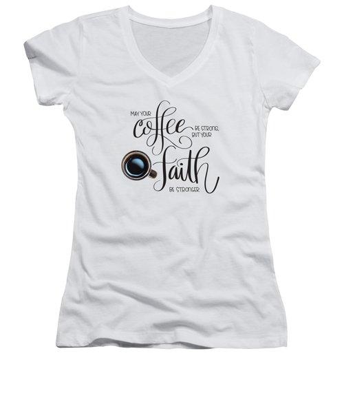 Coffee And Faith Women's V-Neck