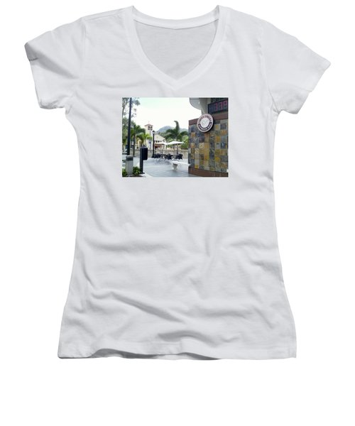 Coffee Lover's Expresso Bar 3 Women's V-Neck (Athletic Fit)