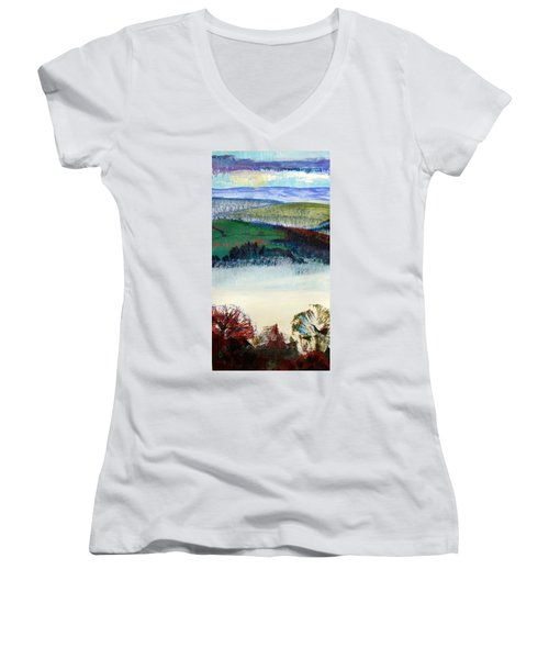 Cold Bright Morning England Women's V-Neck