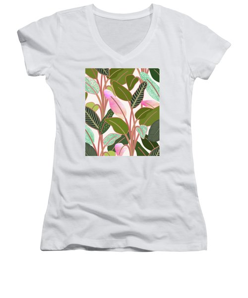 Color Paradise Women's V-Neck T-Shirt