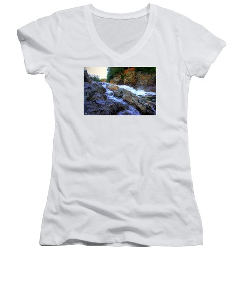 Color Steps At Livermore Falls Women's V-Neck (Athletic Fit)