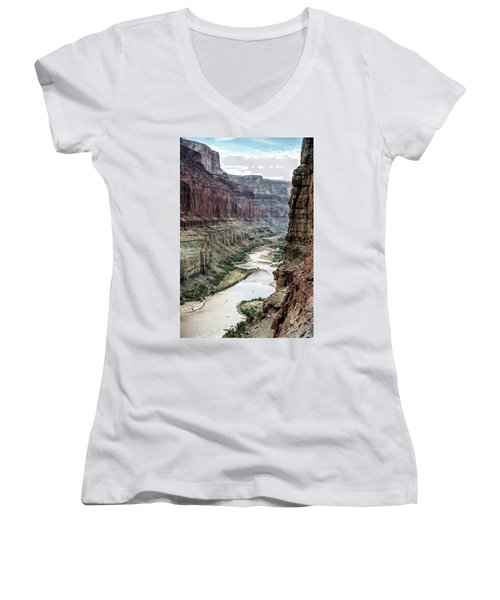Colorado River And The East Rim Grand Canyon National Park Women's V-Neck (Athletic Fit)