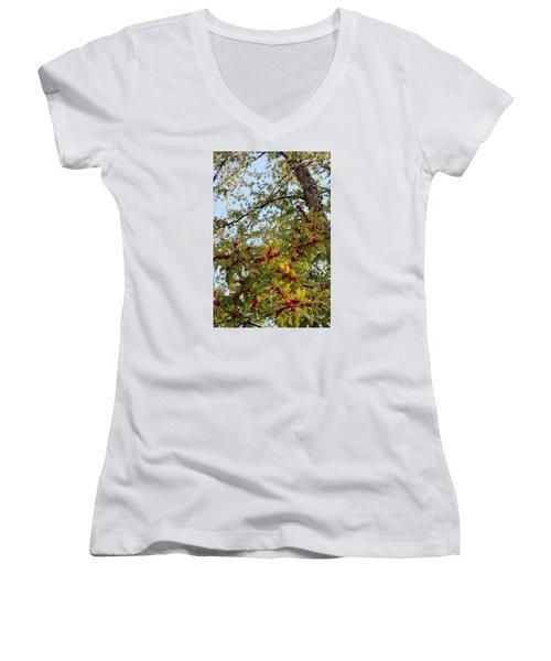 Colorful Contrasts Women's V-Neck T-Shirt (Junior Cut) by Deborah  Crew-Johnson