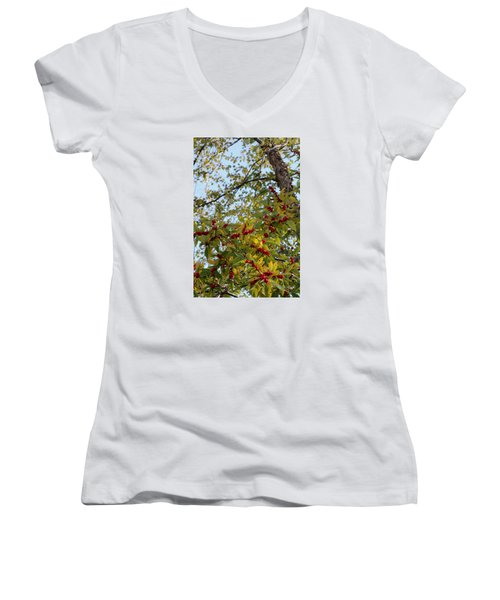 Colorful Contrasts Women's V-Neck T-Shirt