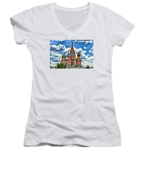 Colorful Domes Women's V-Neck T-Shirt