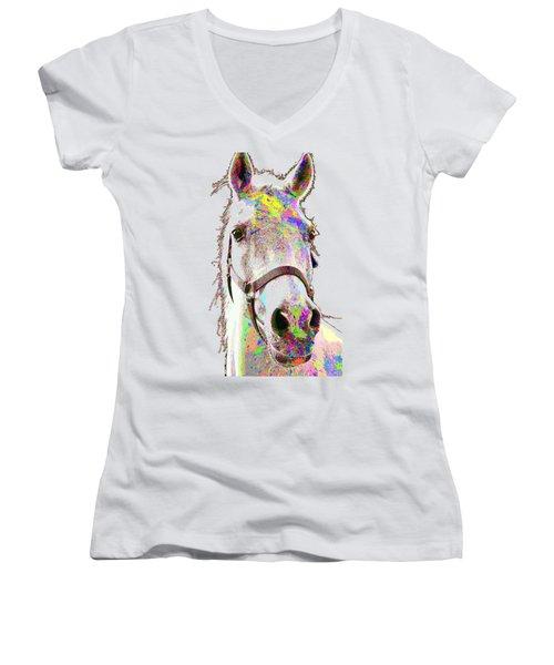 Colorful Horse Women's V-Neck T-Shirt