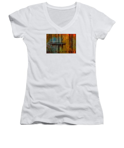 Colorful Lock Women's V-Neck T-Shirt