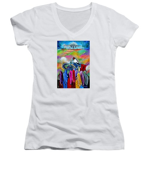 Colors Of Rajasthan Women's V-Neck T-Shirt