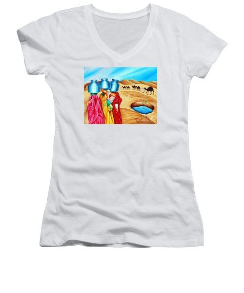 Colour Of Oasis Women's V-Neck T-Shirt