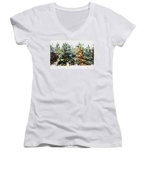 Coloured Trees  Women's V-Neck