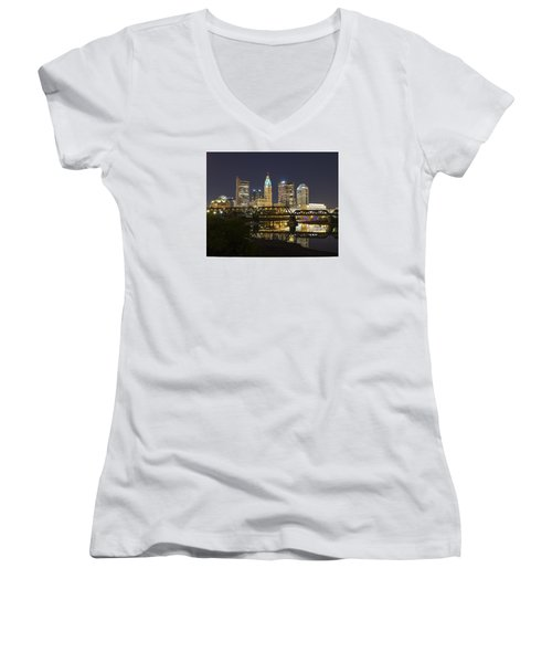 Columbus Skyline 2 Women's V-Neck T-Shirt