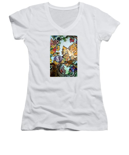 Come Grow Old With Me The Best Is Yet To Be Women's V-Neck T-Shirt (Junior Cut) by Claudia Cole Meek