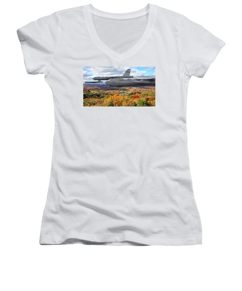 Coming Home Women's V-Neck T-Shirt (Junior Cut) by Peter Chilelli