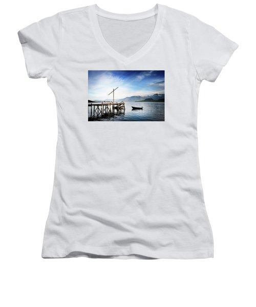Coming Of The Light Women's V-Neck T-Shirt