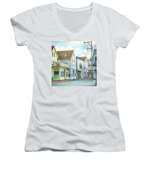 Commercial St #1 Women's V-Neck (Athletic Fit)