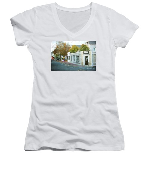 Commercial St. #2 Women's V-Neck (Athletic Fit)