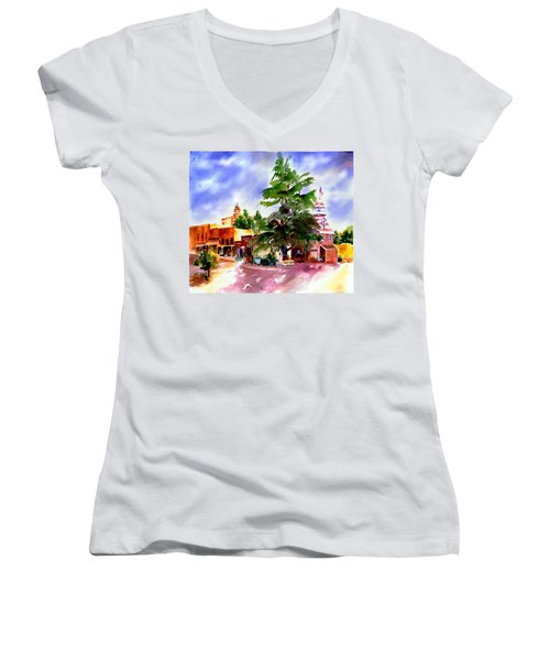 Commercial Street, Old Town Auburn Women's V-Neck
