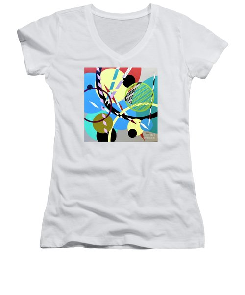 Composition #21 Women's V-Neck (Athletic Fit)