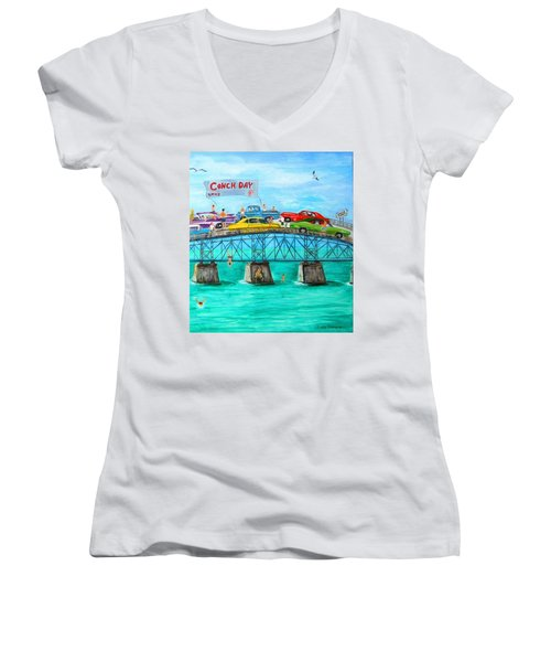 Conch Day Women's V-Neck (Athletic Fit)