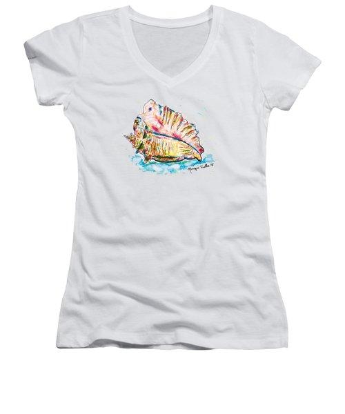 Conch Shell Women's V-Neck