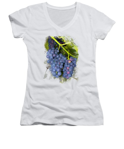 Concord Grape Women's V-Neck (Athletic Fit)