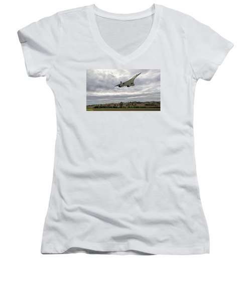 Concorde - High Speed Pass_2 Women's V-Neck T-Shirt