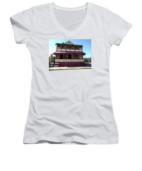 Construct Women's V-Neck T-Shirt (Junior Cut) by Steve Sperry