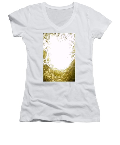 Contemporary Abstraction II Limited Edition 1 Of 1 Women's V-Neck