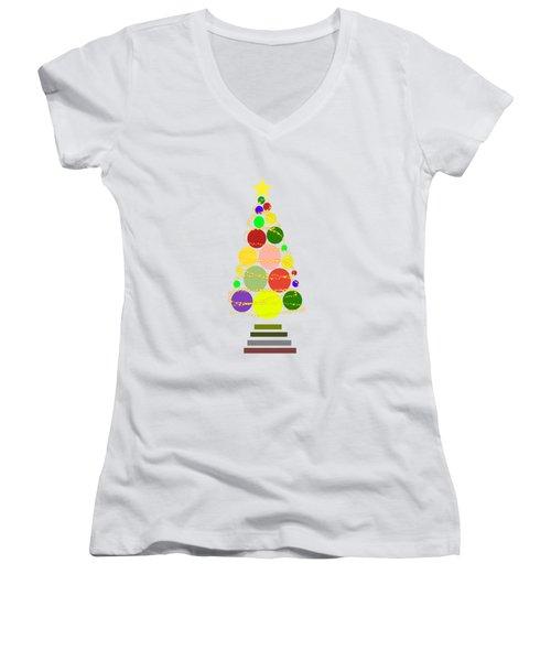 Contemporary Christmas Women's V-Neck T-Shirt