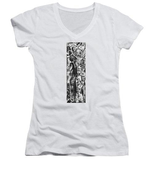 Convenor Women's V-Neck T-Shirt (Junior Cut) by Carol Rashawnna Williams