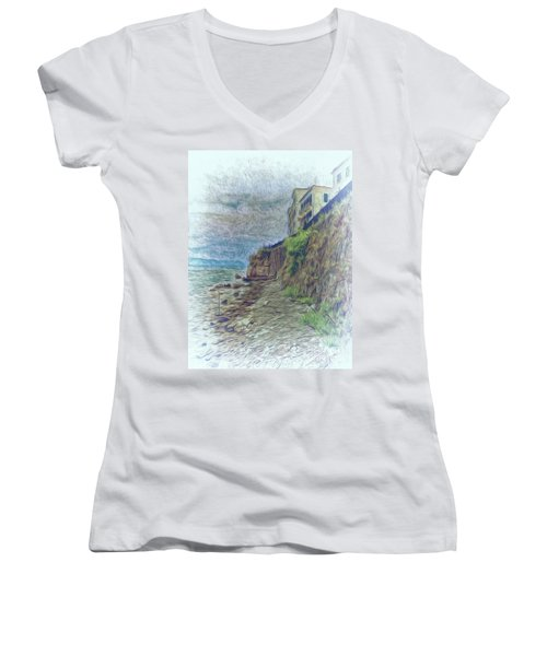Corfu 33 - Corfu Rocks Women's V-Neck