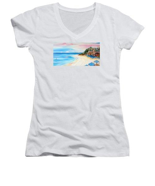 Cottesloe Beach Indiana Tea House Women's V-Neck T-Shirt