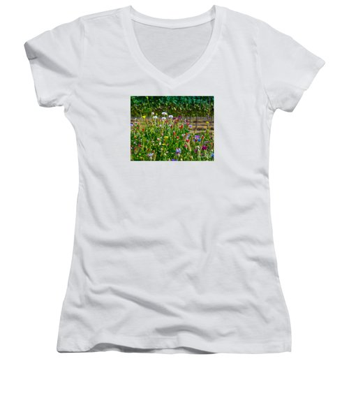 Country Wildflowers II Women's V-Neck (Athletic Fit)