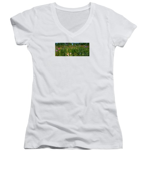 Country Wildflowers IIi Women's V-Neck (Athletic Fit)