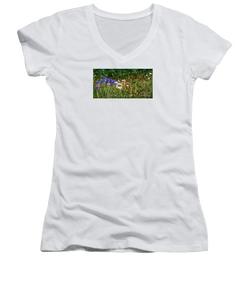Country Wildflowers Iv Women's V-Neck (Athletic Fit)
