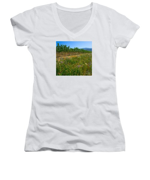 Country Wildflowers V Women's V-Neck (Athletic Fit)