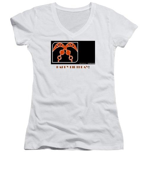 Courage Women's V-Neck T-Shirt (Junior Cut)