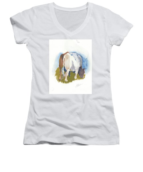 Cow I Women's V-Neck