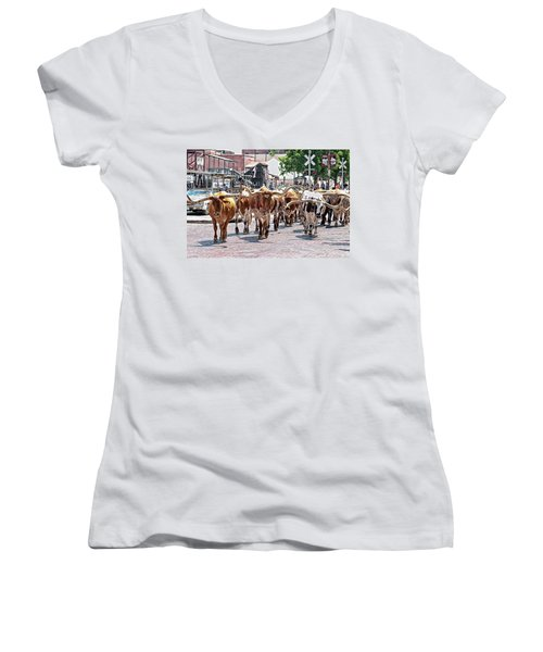 Cowtown Stockyards Women's V-Neck