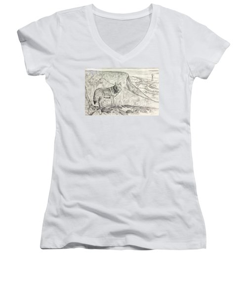 Coyote Women's V-Neck