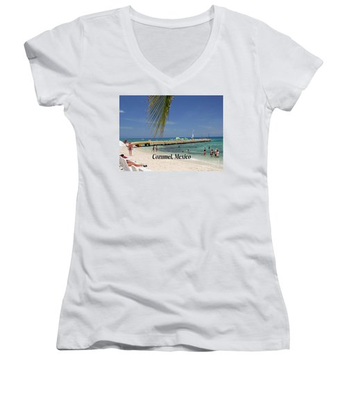 Cozumel Mexico Women's V-Neck T-Shirt